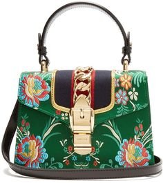 Gucci Sylvie mini floral-jacquard shoulder bag