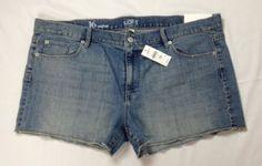 Ann-Taylor-LOFT-Cut-Off-Jean-Shorts-Blue-Size-16-MSRP-40-AT-3