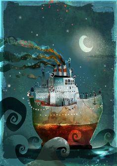 illustration - Page 6 - nikao Children's Book Illustration, Watercolor Illustration, Deco Pirate, Art Fantaisiste, 3d Fantasy, Whimsical Art, Illustrators, Folk Art, Concept Art