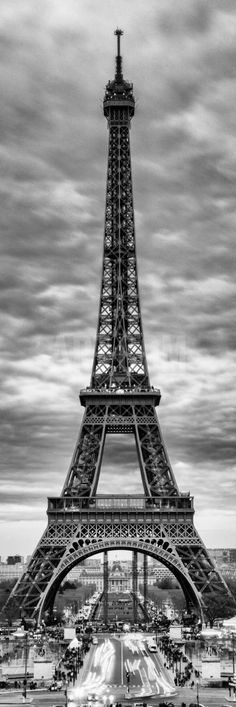 Eiffel Tower, Paris, France - Black and White Photography Photographic Print by Philippe Hugonnard at Art.com