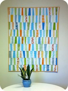 The Wonky Quilt by Cara {Me? A Mom?}, via Flickr