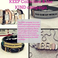 "So proud of KEEP's participation in the Kind Campaign to prevent girl on girl bullying and its devastating effects.  Join me in my efforts to get a ""YOU CAN SIT WITH ME"" bracelet on every woman and girl!  They will be available on Aug. 6th.  Let me know if you want to preorder!  www.keep-collective.com/with/laurenb"