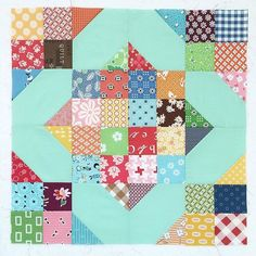 "Remember my Scrappy Crossroads Block tutorial? I did it here on IG as a sew along but I put the tutorial for this block on my blog as well back in July of 2014. It's perfect for your scrappy stash and precuts as well! It's still on my blog...just search ""Bee in my Bonnet Scrappy Crossroads Block Tutorial!"" ✂️✂️✂️ #beeinmybonnet #scrappycrossroads"