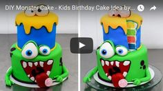 funny cake,cake kids,monsters inc,birthday cake, cake how to,