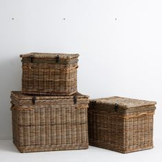 Kubu Linen Hamper Small - Use this classic hamper to hold linens, clothes or use as a statement piece in your lounge or bedroom.