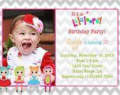 Lalaloopsy Birthday Invitation / Lalaloopsy Invitation / Lalaloopsy Birthday / Lalaloopsy / Digital File 5x7