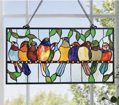 Stained Glass Bird Hanging from Seventh Avenue ® - possibly to do for my kitchen window