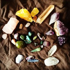 freshly cleansed 💦 #crystals #crystalhealing #crystalcollection #crystalcleanse #crystalenergy