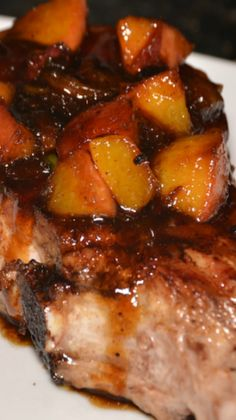 Peach-Pepper Jelly Pork Chops _ I like most of my recipes, but I'm in love with this recipe! I highly recommend using bone-in pork chops. The flavor is really intense if you cook them with the bone in!