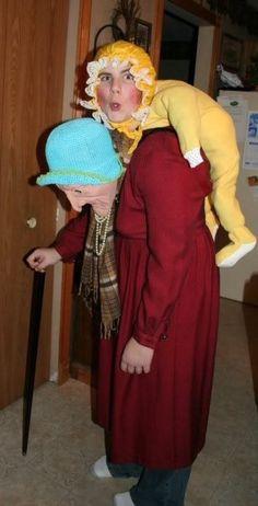 Wirklich ein witziges Kostüm; Kann man vielleicht nachmachen; man braucht eine Baby - Strampelhose und eine Oma - Maske.Sieht sehr originell aus!