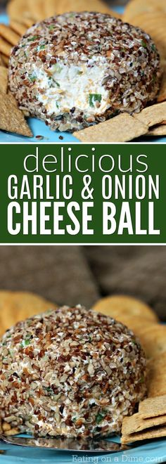 The best appetizer for the holidays: Try this simple Garlic cheese ball recipe. This entire family will love this Garlic and onion Cheese ball recipe. #garlic #onion #cheese #ball