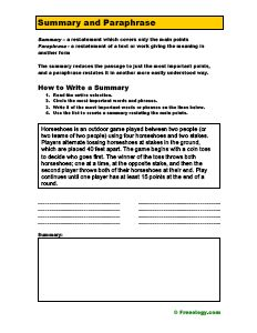 Worksheets Paraphrasing Worksheets page 1 paraphrase worksheet docx writing ideas pinterest the difference between summarize and paraphrase