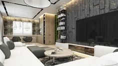 Moscow house uses texture to create interest - Hdb 5 Room Design Ideas Interior Design Singapore Hdb