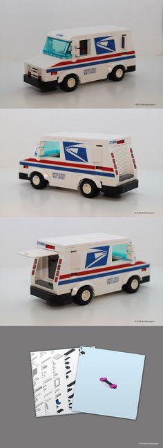 Instruction Manuals 183449: Custom Lego Mail Truck -> BUY IT NOW ONLY: $54.99 on #eBay #instruction #manuals #custom #truck Cool Lego, Cool Toys, Awesome Lego, Lego Cars Instructions, Lego Auto, Lego Truck, Lego Games, Lego Modular, Trucks