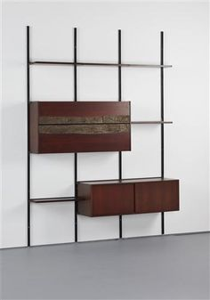 OSVALDO BORSANI AND ARNALDO POMODORO Bookcase with cabinets, model no. T22