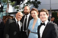 Game of Thrones: Conleth Hill, Rory McCann, Hannah Murray and Iwan Rheon at the 2016 Emmy's