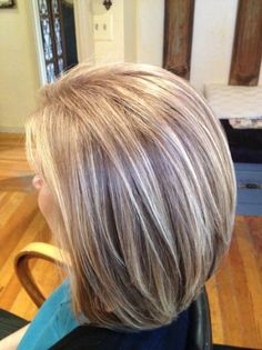 Image result for highlights for greying brown hair Short Ombre, Balayage, Short Hair Styles, Grey, Ideas, Bob Styles, Gray, Short Haircuts, Soft Balayage
