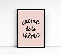 Fashion Art Print Crème de la Crème Inspirational by mixarthouse