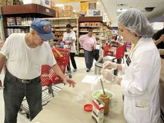 Supermarket Dietitians lure and educate shoppers.