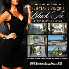 Featuring a star studded red carpet, ballroom, 360 degree views of the LA skyline, Photo Booth, open bar, ball drop and music from the top Hollywood DJs. This year's Rockstar Mansion Party will be the best New Year's Eve party of 2017. Celebrate In Unique Style at a Stunning Multi-Million Dollar Mansion and experience an evening like no other, a night you will never forget at the Rockstar Mansion Party 2017.