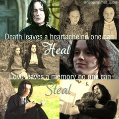snape and lily <> but now he's with her, and she can't leave this time.