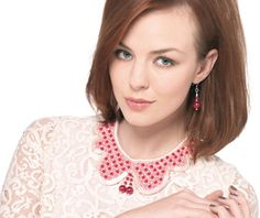 Top Collar - Beaded collar necklace and matching accessories