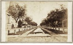 Canal Street looking towards river - New Orleans, LA 1860's