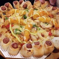 This Is Pizza Hut's Hot-Dog Crusted, Shrimp Tempura Pizza, With Mayonnaise