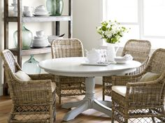 This is the pedestal table I want and the chairs for ME rental home...love!