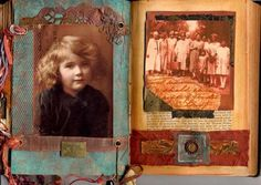 Ancestors altered book pages