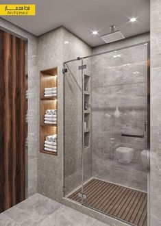 Idias do banheiro com chuveiro - Bathroom remodel master - Bathroom Design Luxury, Modern Bathroom Design, Washroom Design, Toilet And Bathroom Design, Modern Luxury Bathroom, Design Kitchen, Shower Remodel, Remodel Bathroom, Amazing Bathrooms
