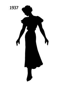 Picture of a Black Fashion History Silhouette 1937