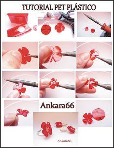flower from plastic PET bottle