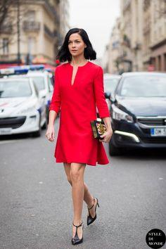 Paris Fashion Week FW 2015 Street Style: Leigh Lezark