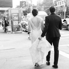 Photography : Trent Bailey Photography   Wedding Dress : Ines Di Santo Read More on SMP: http://www.stylemepretty.com/new-york-weddings/new-york-city/2016/03/29/chic-manhattan-wedding-at-the-bowery-hotel/