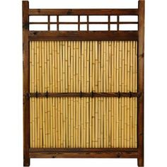 4' x 3' Japanese Bamboo Kumo Fence, Brown
