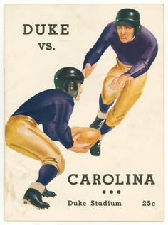 https://flic.kr/p/btLEwM | Duke vs. UNC Football Program, undated | The records of the Duke University Football Program in the University Archives include a large collection of game programs, which start in 1922. While the bulk of the programs are from home games, programs from selected away games as well as bowl games are also present. To see all 584 covers from Duke football programs, see the digital collection at library.duke.edu/digitalcollections/dsp/. Repository: Duke University…