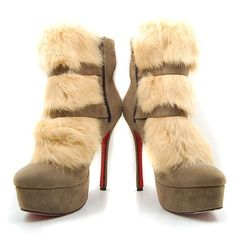 Christian Louboutin Ankle Boots Beige Toundra Fur Suede $215.00  http://www.cheaplouboutinsbuy.com/sale/Christian-Louboutin-Ankle-Boots-Beige-Toundra-Fur-Suede--884.html