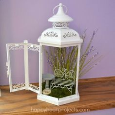 Turn an old lantern into an enchanting fairy garden!