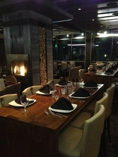 "Parallax: Mammoth Mountain's ""member's only"" on-mountain dining club at McCoy Station."