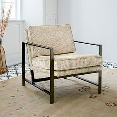 Metal Frame Upholstered Chair #westelm customize options