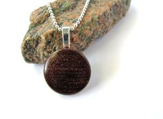 Wooden Jewelry Mini Pendant Rosewood Wood Necklace by Hendywood, $18.00