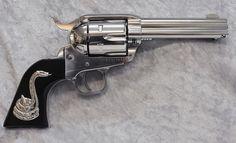 Silverwork - Classic Single Action - Custom grips and Gunsmithing Weapons Guns, Guns And Ammo, Colt Single Action Army, Western Holsters, Cowboy Action Shooting, Hunting Guns, Gun Holster, Cool Guns, No Name