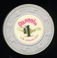 Las Vegas Casino Chip of the Day is an old Aladdin $1 chip from the 70's http://www.all-chips.com/ChipDetail.php?ChipID=17006