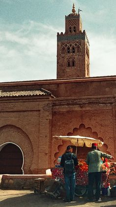 Marrakech in love.  Fruits pit stop before a tour in the majestic Medina.  Magical City.