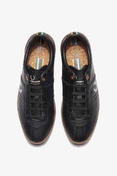 Fred Perry Stockport Leather Bradley Wiggins Black Man Sneaker
