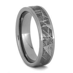 Meteorite Ring Meteorite Wedding Band Meteor by jewelrybyjohan