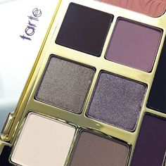 tarte dictionary: energy noir clay palette- en·er·gy no·ir clay pal·ette noun  1.) An incredible clay-infused eye & cheek palette featuring 8 stunning shadows in a mix of neutral, plum & smokey shades, along with a versatile eye & cheek highlighter & a neutral pink blush.  2.) A fall beauty staple your makeup bag is incomplete without. #energynoir #eyelovetarte #paletteplay #smokeyeyeperfection #makeup #beauty