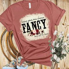 Distressed Bleached Sublimated Here's your one chance Fancy don't let me down Reba / Country music lyrics Vintage Tee T Shirts With Sayings, Cute Shirts, Bella Shirts, Girl Sayings, Funny Shirts, White Trash Party, Western Outfits Women, Country Music Shirts, Cute Shirt Designs