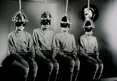 The Gamma People (1956) Dr Boronski's experiments involved exposing young immature brains to gamma radiation enabling both geniuses and imbeciles to be created at will.  http://scififilmfiesta.blogspot.com.au/2015/07/the-gamma-people-1956.html